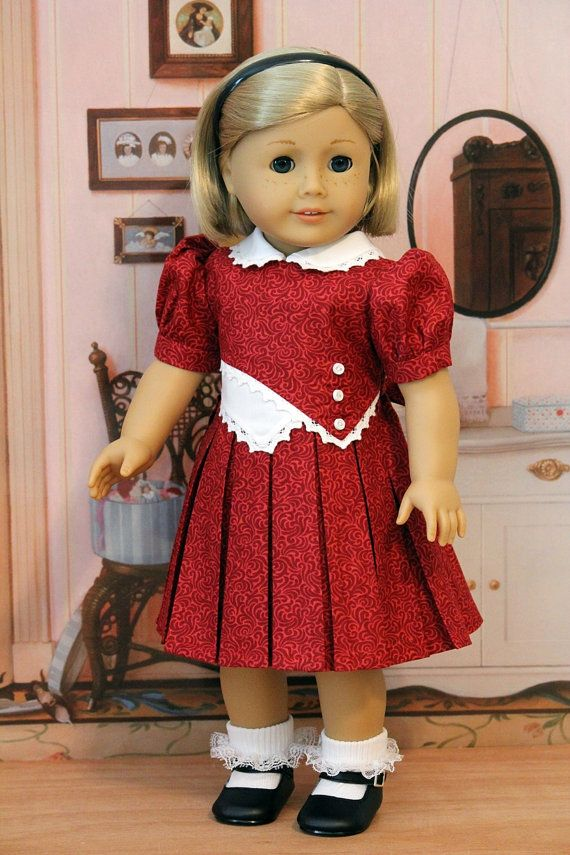 18 Going On 18 Here Are The Interesting Bits: 1930s Frock For 18 Inch Dolls Like Kit And Ruthie By