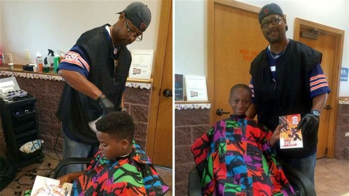 Meet Courtney Holmes, the barber who gave kids free haircuts for reading to him