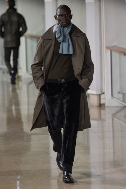 Look from the Hermès men's winter 2015 show #hermes #hermeshomme #fashion