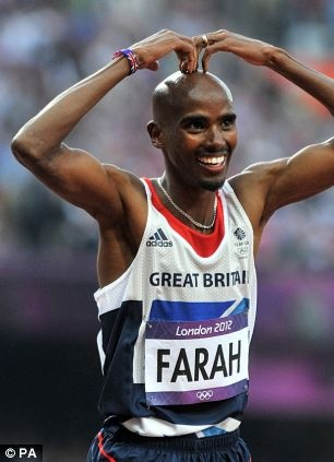 Mo Farah wins 5000 m gold at the London 2012 Olympics