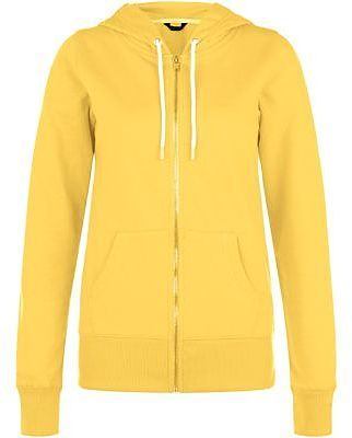 Womens corn yellow yellow basic zip up hoodie from New Look - £14.99 at ClothingByColour.com