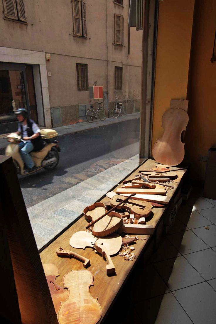 The famous violins of Cremona, Lombardia