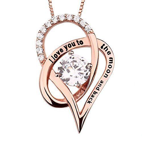 Mothers Day Gifts Gift For Mother Mom Silver Necklace Pendant Rose Gold Heart  #KBrand