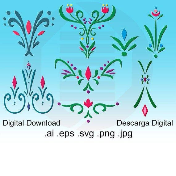 Disney Frozen Svg Elsa Anna Bodice Dress Coronation Princess Handmade Embroidery Design Template Clipart Costume Pattern Digital Download Patternator Floral