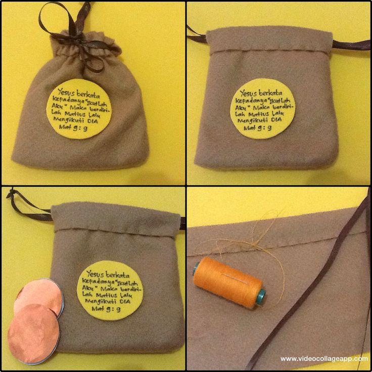 Moneys sack craft idea made from flanel Jesus calling