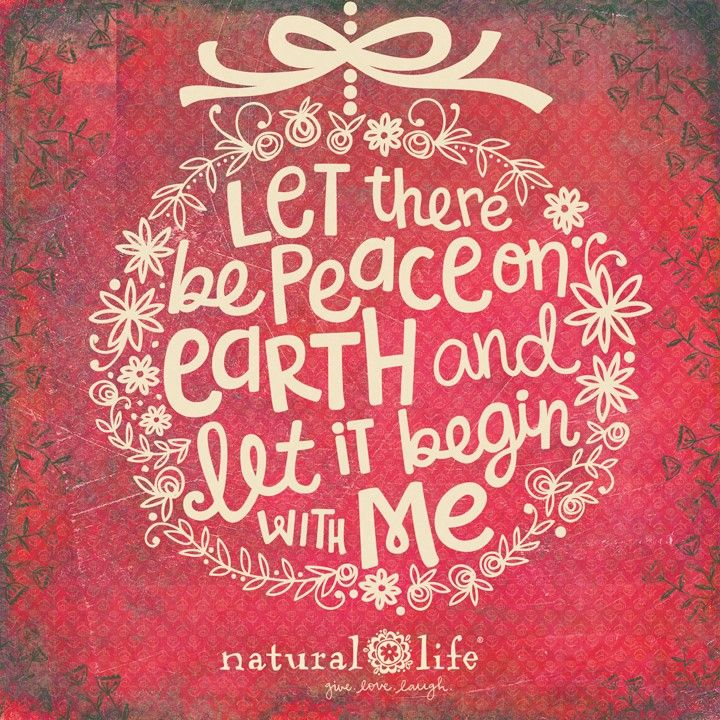 Let there be peace on earth... and let it begin with me!