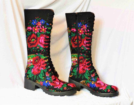 Enkel laarzen Lace bloem van stedelijke laarzen door VictorianBoots