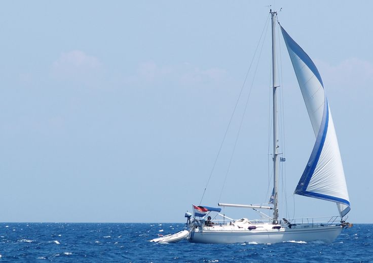 #sailing #ithaca #straits #kefalonia is great for yacht watching, or having a go yourself. You cant rent a crewed boat for a day or a week or uncrewed take your pick. Good for a treat or a spot of island hopping without the hair pin turns and 500 feet drops