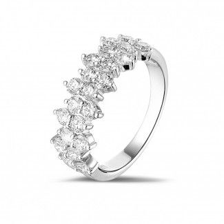 Diamant Memoire Ring Weißgold - 1.20 Karat diamantener Memoire Ring aus Weißgold