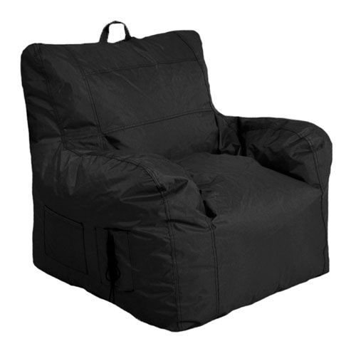 Large Arm Chair Black Bean bag