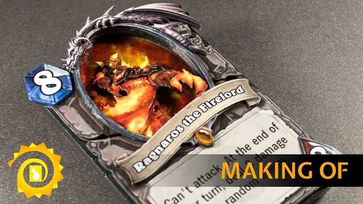 Behind the scenes video of the Hearthstone 3D card - Ragnaros the Firelord.  See the video over on my channel: https://www.youtube.com/watch?v=aa05KErI3-4  #3d #card #art #alteration #shadowbox #handmade #craft #tcg  #hearthstone #ragnaros #firelord