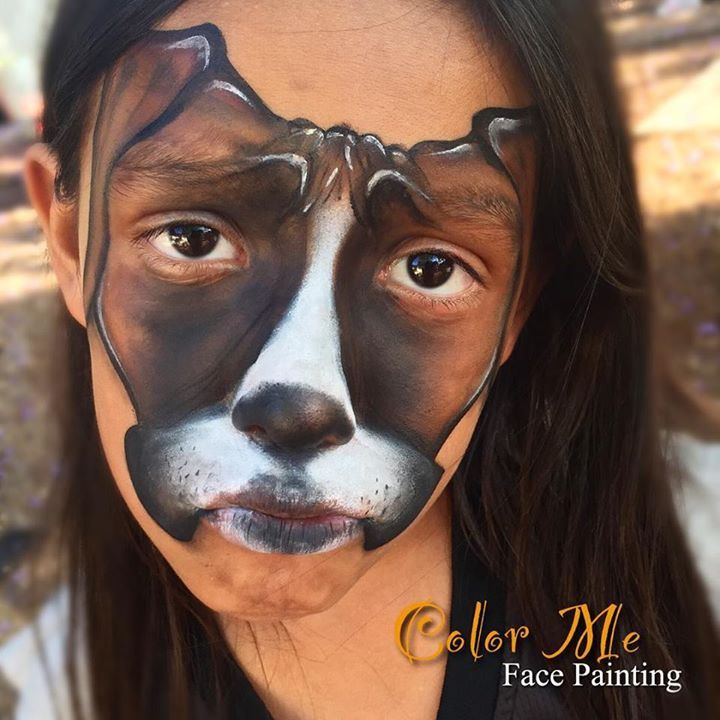 Puppy Dog Face Painting - Color Me Face Painting - Vanessa Mendoza
