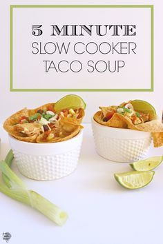 Easy Slow Cooker Tac Easy Slow Cooker Taco Soup. Takes just 5 minutes to throw this in the crockpot and you are good to go with a healthy filling and delicious meal! Recipe : http://ift.tt/1hGiZgA And @ItsNutella  http://ift.tt/2v8iUYW