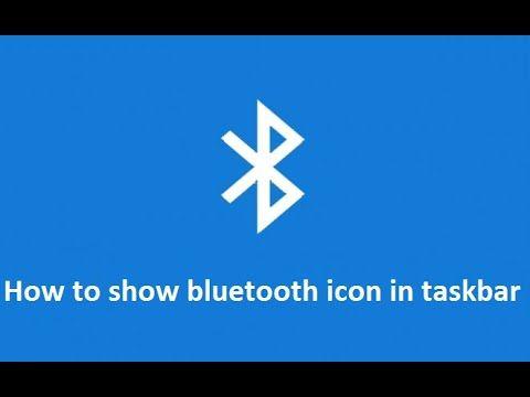 how to show or add Bluetooth icon in windows 10 taskbar ...