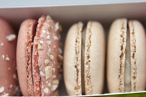 neutral palette of macarons