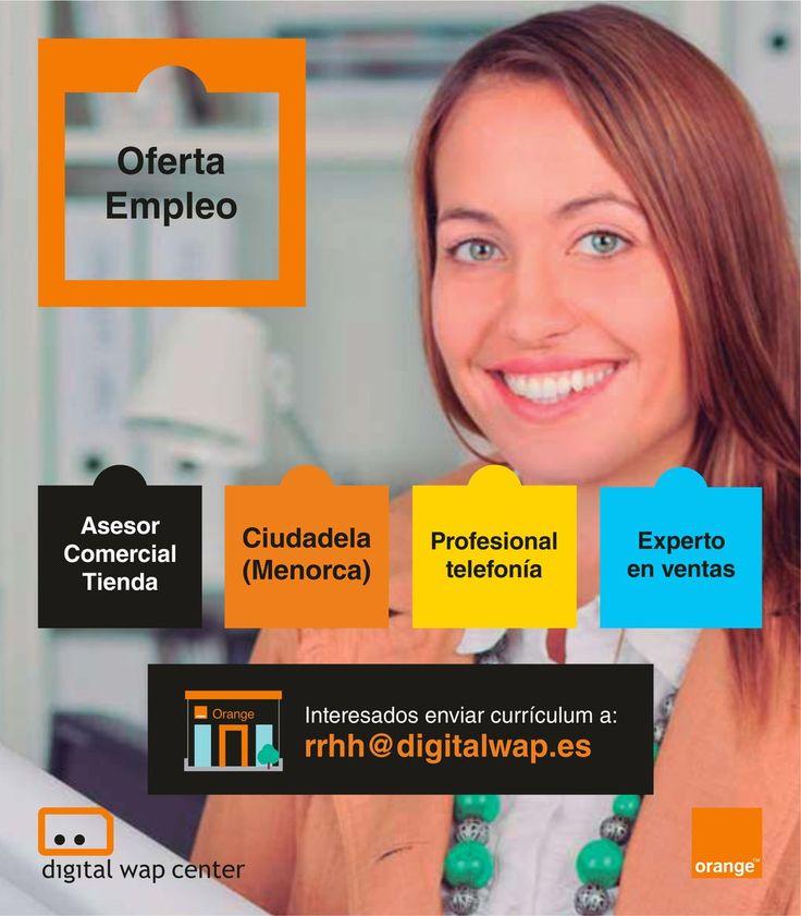 Oferta de #empleo: Se busca asesor/a comercial con experiencia en telefonía móvil para Ciudadela de #Menorca ¡Únete a nuestro GRAN equipo! 💼👩💼👨💼#FelizMiercoles #Jobs #JobSearch #Trabajo #TelefoniaMovil #Orange