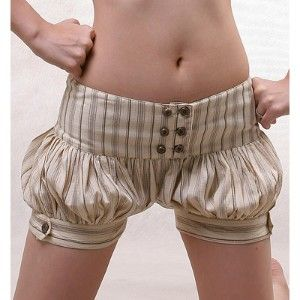 Steampunk Unmentionables! Sophie Balloon Shorts. Adorable.