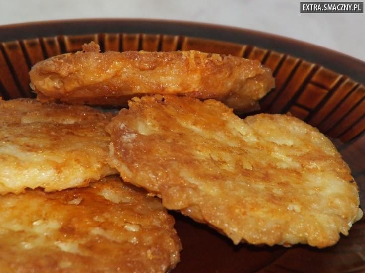 Kotlety ryżowe z żółtym serem
