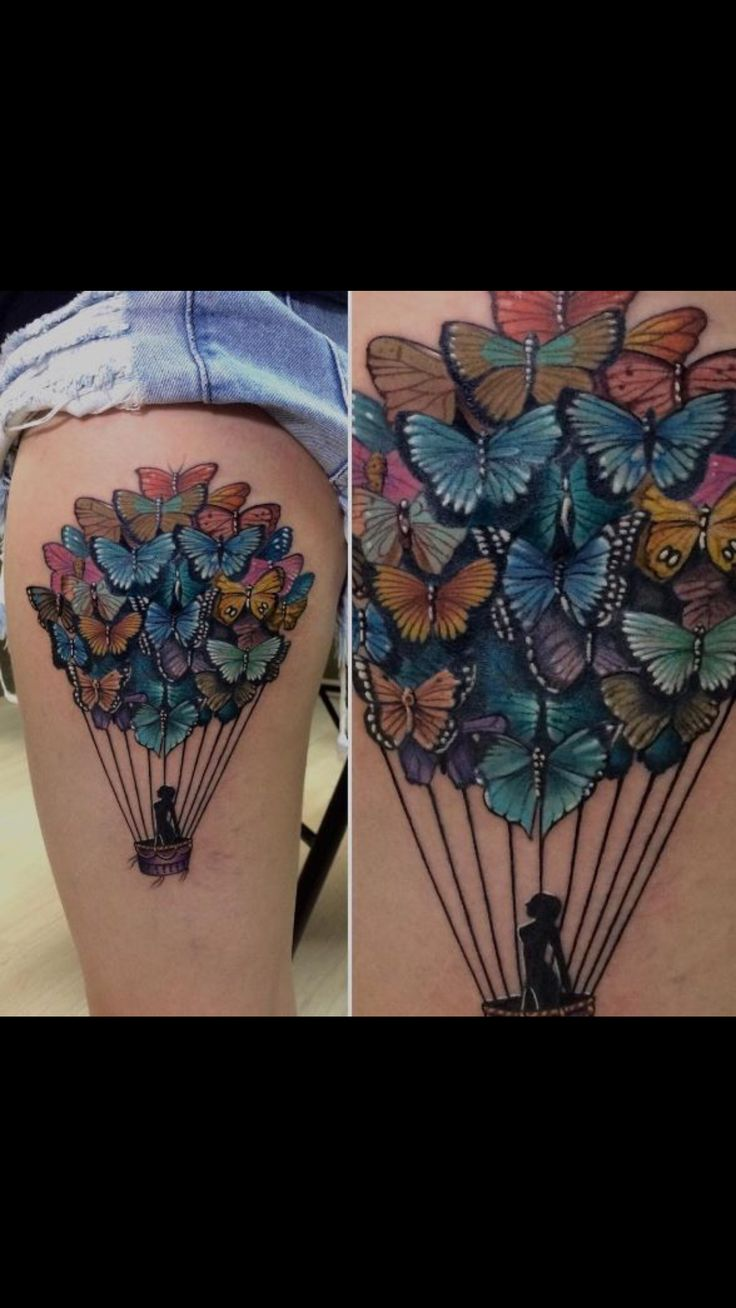Beautiful butterfly balloon tattoo                                                                                                                                                     More