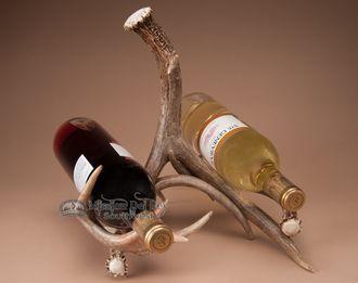 White Tail Deer Antler Double Wine Rack (ar7)