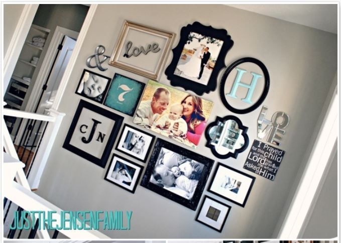 excited to put together our new family pictures love this. Black Bedroom Furniture Sets. Home Design Ideas