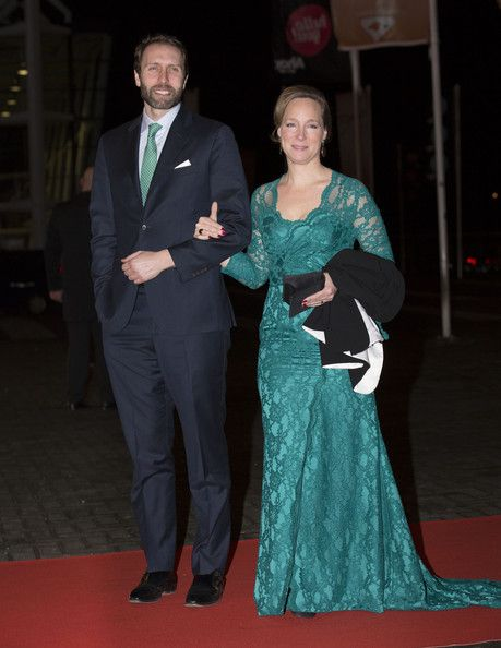 Princess Margarita de Bourbon de Parme and Tjalling ten Cate attend a celebration of the reign of Princess Beatrix on 01.02.14 in Rotterdam, Netherlands.