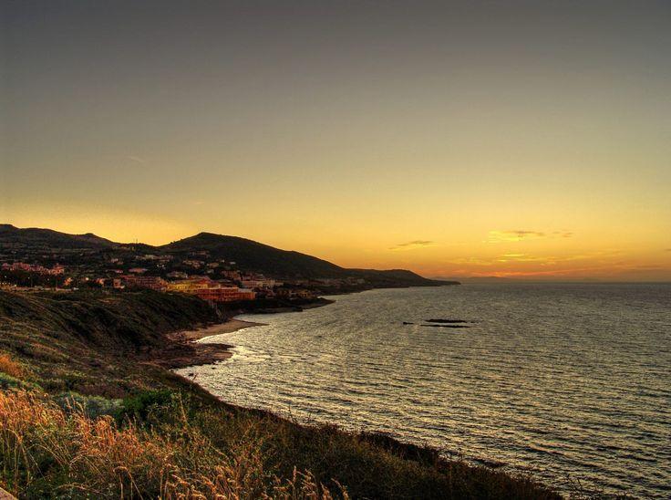 Lu Bagnu, winter sunset