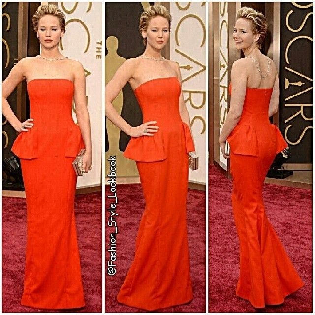 FASHION FROM THE OSCARS 2014#JenniferLawrence in #Dior #Dress #BrianAtwood shoes, #Ferragamo #bag and #NeilLane #Jewelry.#red #peplum #dress #favourite #hollywood #actress #pixie #blonde #hungergames #catchingfire #liamhemsworth #omg #wtf #sohot #fashion #Style #stylish #accessories #fit... - Celebrity Fashion