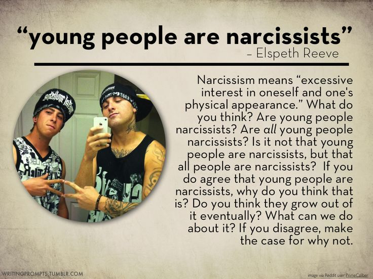 #738 young people are narcissists would be a good lead into millenials articles