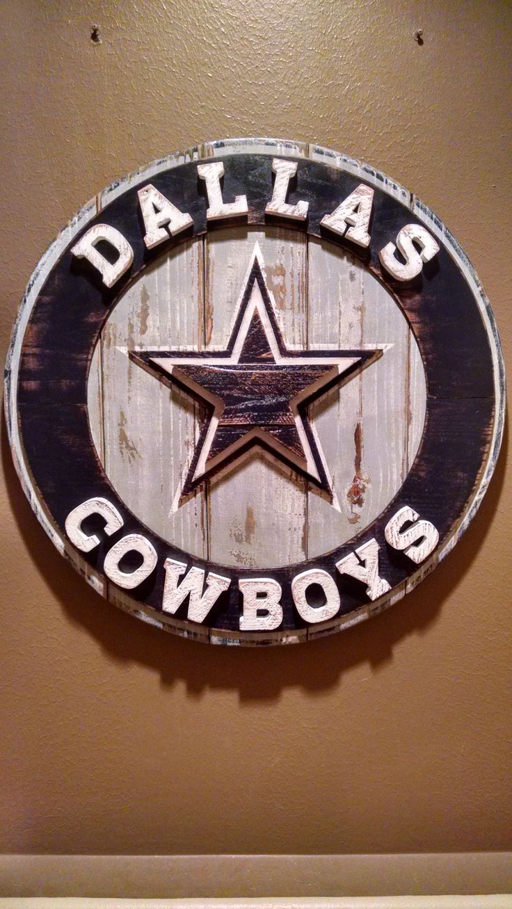 Reclaimed Wood Wall Art Dallas Cowboys Brown S Creations
