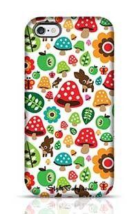 Musroom Autumn Deer And Apple Pattern Apple iPhone 6 Plus Phone Case