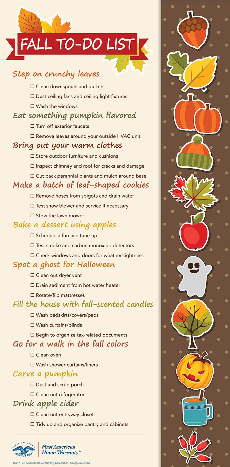 Use this Fall checklist as a reminder to enjoy the new