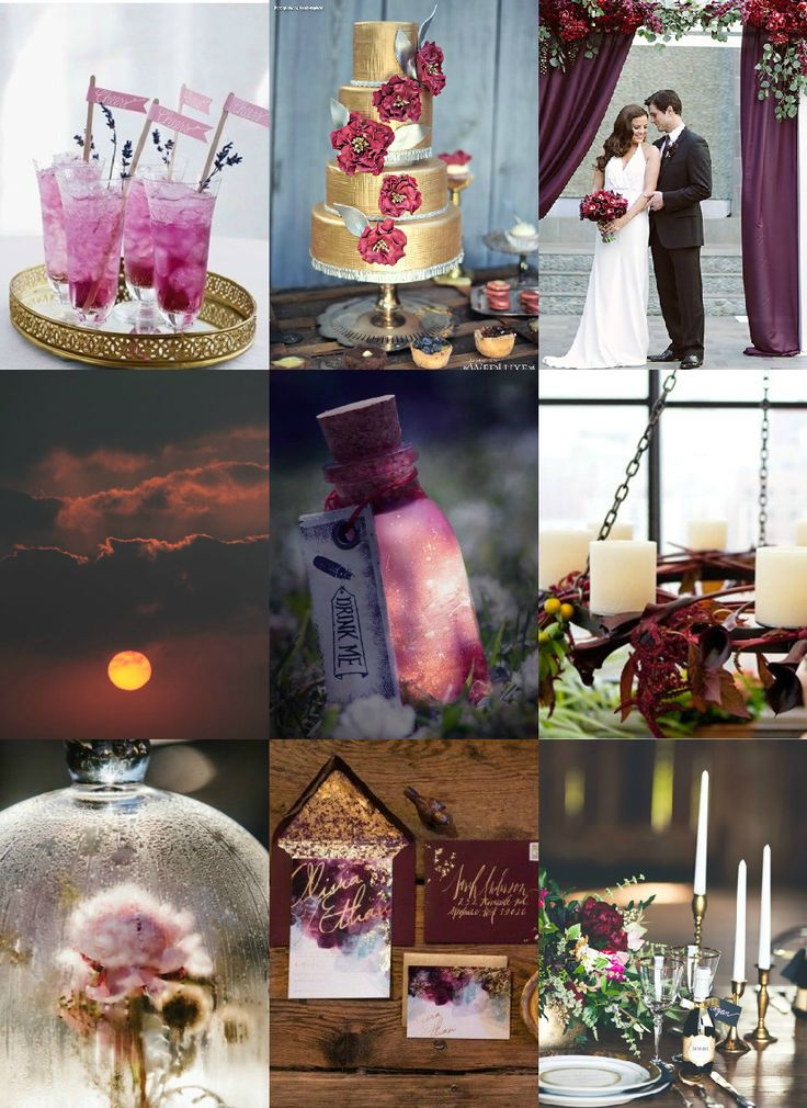 Wedding Planning Styling & Design student Kate has used Pantone Colour of the Year, Marsala as inspiration for this board.