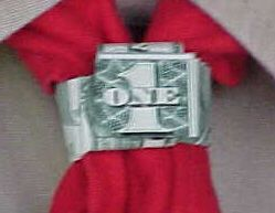 dollar bill neckerchief slide  http://www.homemade-gifts-made-easy.com/dollar-bill-ring.html