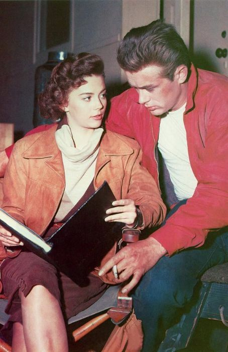 James Dean and Natalie Wood behind the scenes