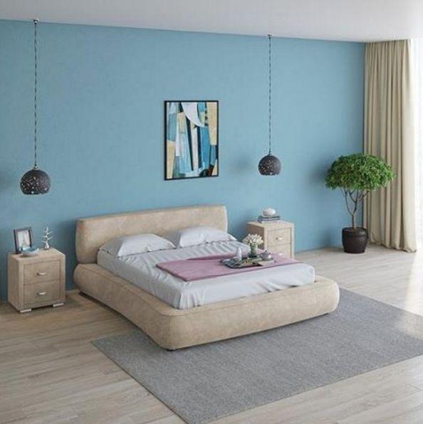 Правильный выбор обивки для мебели может стать решающим в создании уютной спальни. Советуем вам рассмотреть кровати с покрытием из мягкой велюровой ткани Velsoft. Она невероятно приятная на ощупь, а по виду напоминает бархат. При этом высокая плотность ворса наделяет этот материал долговечностью и износостойкостью. На фото: кровать Zephyr, прикроватные тумбы Orma Soft 2. Обивка - мебельная ткань Velsoft бежевого цвета. Подробнее: http://ormatek.com/catalog/bed/myagkie-krovati/
