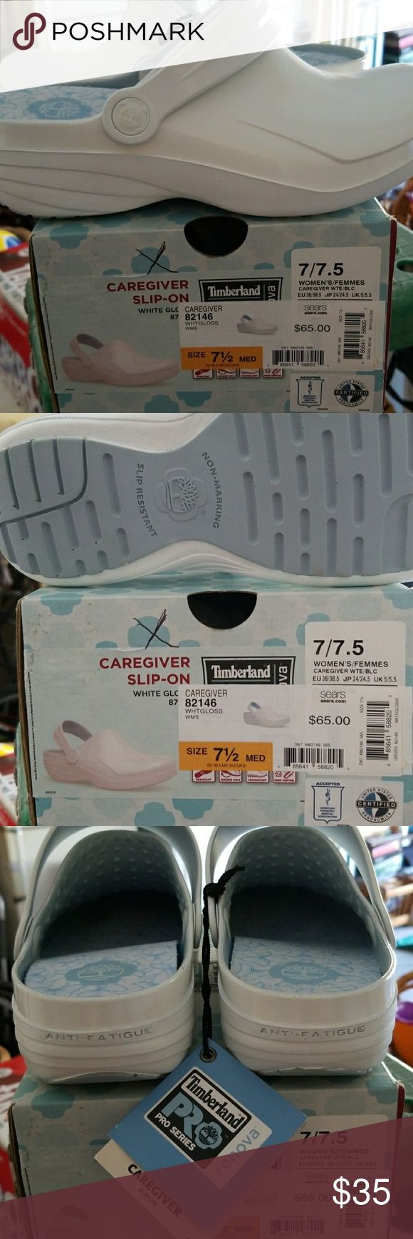 Caregiver slip on White gloss caregiver Timberland. Timberland Shoes Mules & Clogs