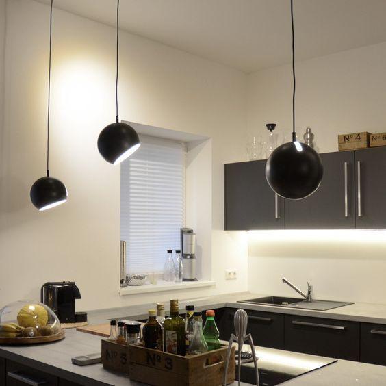 20 best Küche Lampen images on Pinterest Pendant lights, Ceiling - hängelampen für wohnzimmer