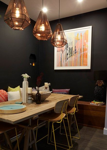 House Rules: Claire & Hagan's finest work in Brooke & Michelle's dining room - Home Beautiful