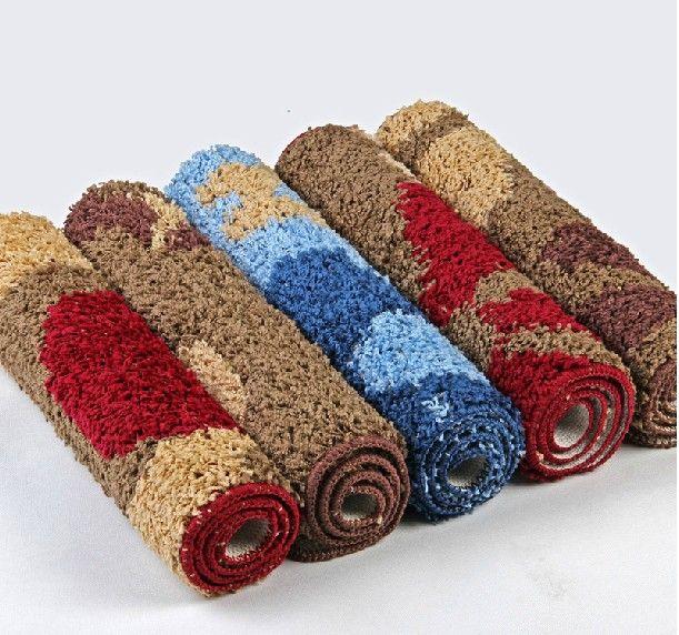 Várias cores linda de algodão tapete moderno, Antiderrapante tapete de cozinha tapete, Dirtproof capacho cama alishoppbrasil