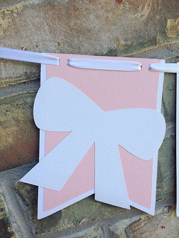 NUEVO Banner de Tiffany bebé y Co. Rosa y blanco por Skrapologie