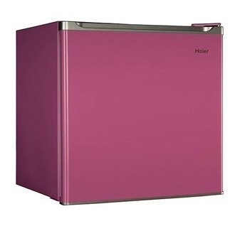 New Haier PINK Mini Fridge Compact Refrigerator and Freezer Small Cooler Dorm, Energy Star compliant