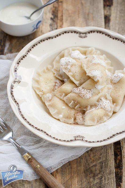Pierogi z białym serem (na słodko)