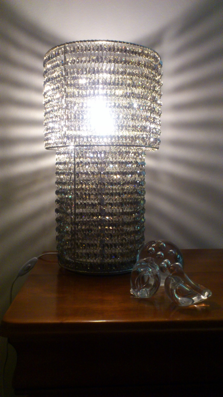 Lead crystal table lamp - Stunning Satin Grey 30 Lead Crystal And Nickle Plated Table Lamp Available From