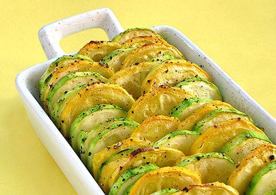 Rica guarnición de calabazas al horno, ideal para las personas que son vegetarianas o que llevan una dieta ligera.