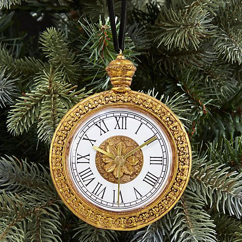 John Lewis Enchantment Clock Bauble, Gold