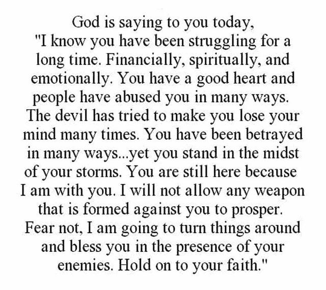 Hold on to your faith!