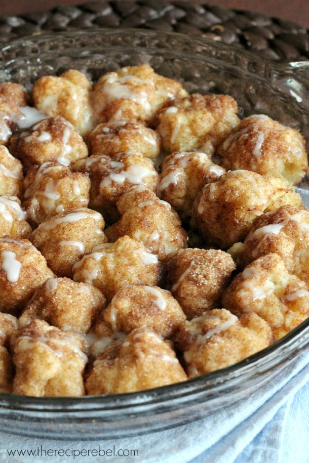 Cinnamon Roll Bites | These little bites taste just like your favorite cinnamon roll recipe. They're perfect for breakfast or dessert!