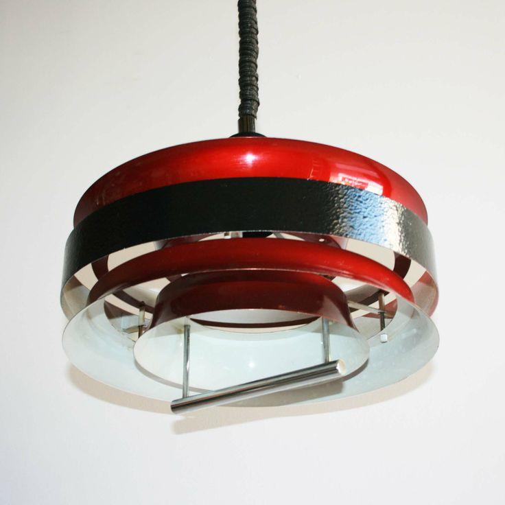 Lámpara aros metálicos