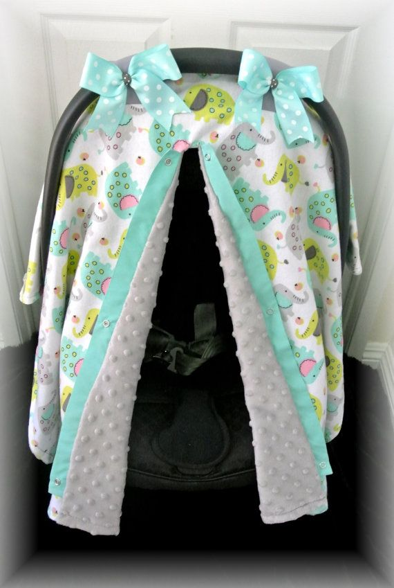 FLANNEL MINKY Car Seat Canopy Car Seat Cover Jungle